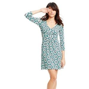 Boden gathered tunic geo floral print dress WL861
